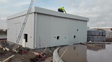 Technologischer Container - Sprinkler;  Container 3,4 m hoch