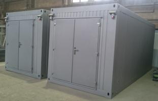 Technologische Container mit Auffangwanne, Einsiedeln, CH